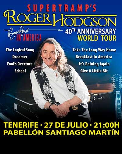 Roger Hodgson Supertramp's SANTA CRUZ DE TENERIFE