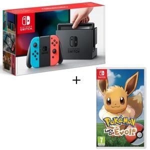 Pack Nintendo Switch Neon + Pokemon Let's Go Evee