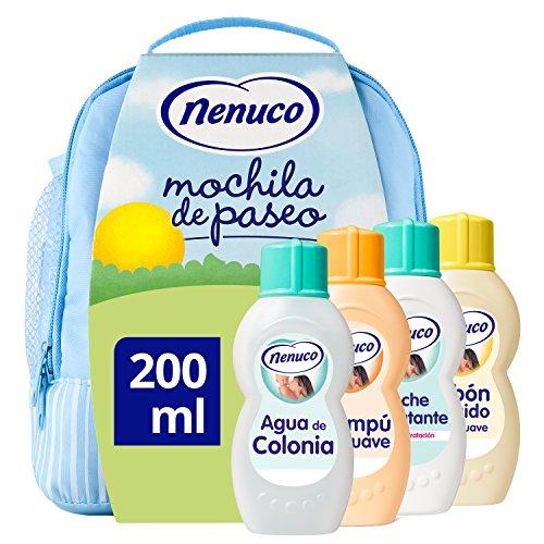 Mochila + champú + jabón + leche hodratante + fragancia (Pantry)