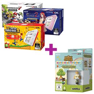 2Ds + Animal Crossing HHD + Amiibo Canela(Verano)