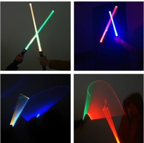 Espada láser Star Wars con sonido y luz (cambia de color).