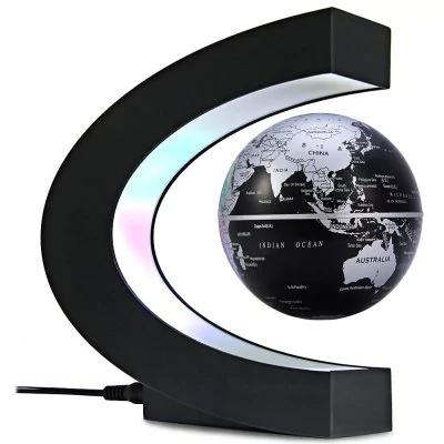 Globo terráqueo magnético levitable con luz LED