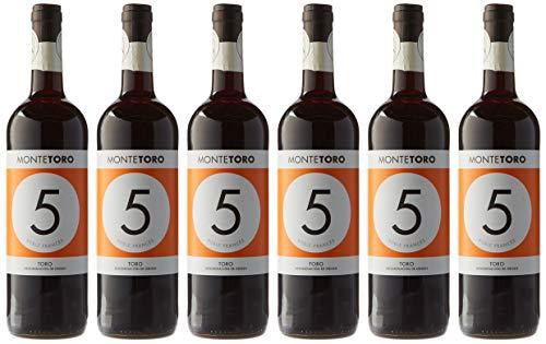 San Jamón Monte Toro Roble 6 Meses en Barrica Vino Tinto Toro - Paquete de 6 x 750 ml