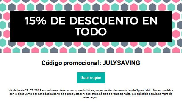 15% de descuento en Spreadshirt