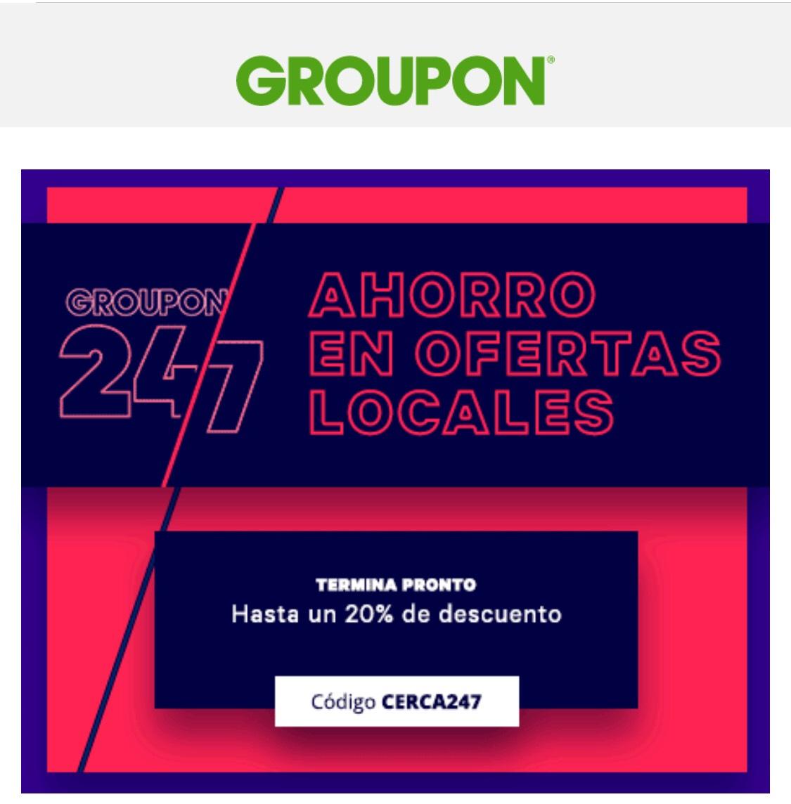 20% groupon