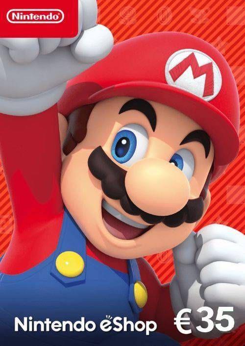Tarjeta 35€ para Nintendo eShop por 38,99€