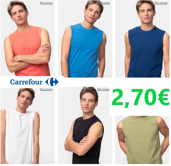 Camiseta sin mangas TEX  [ Carrefour ]