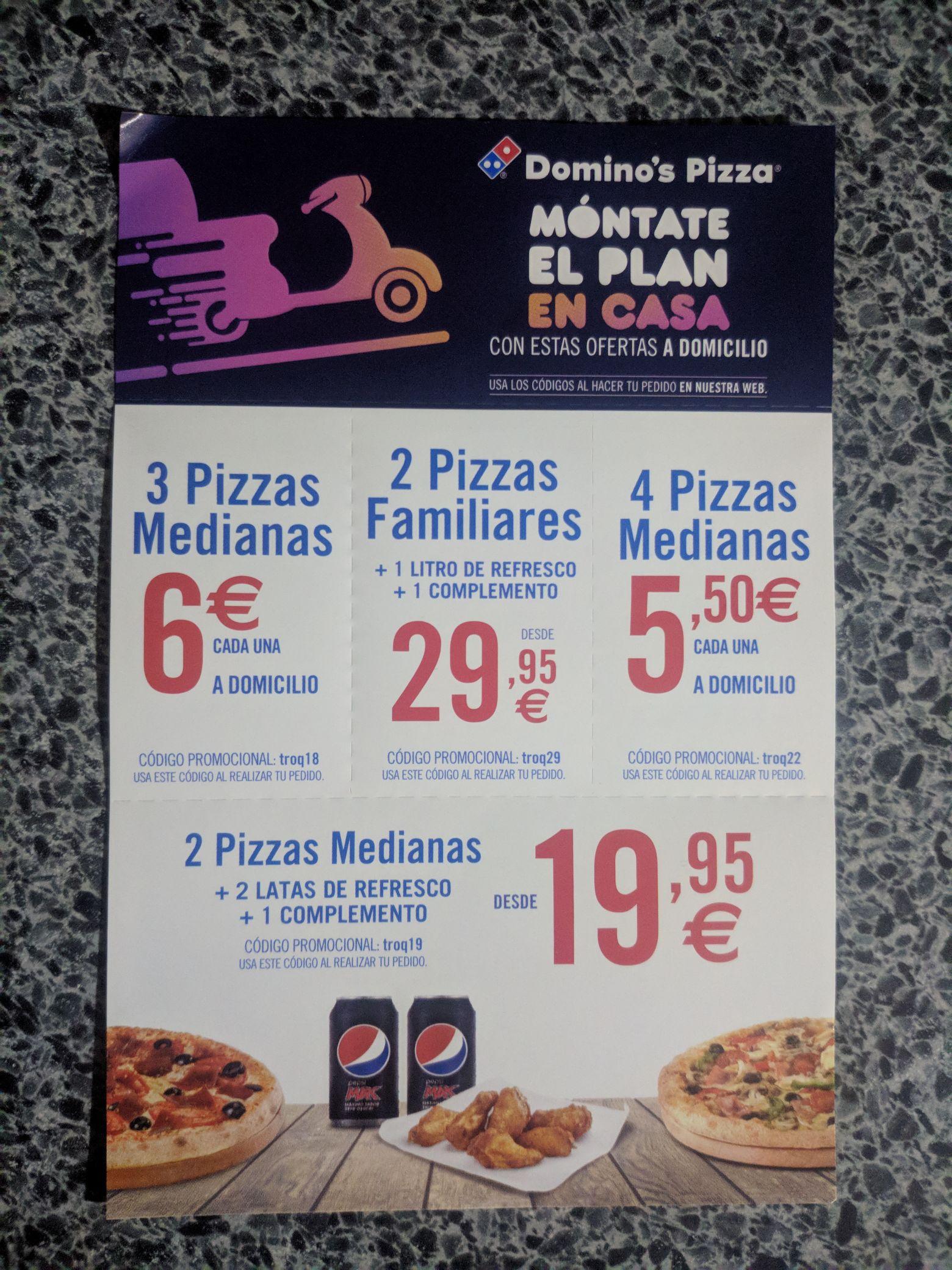 Nuevos cupones Domino's Pizza
