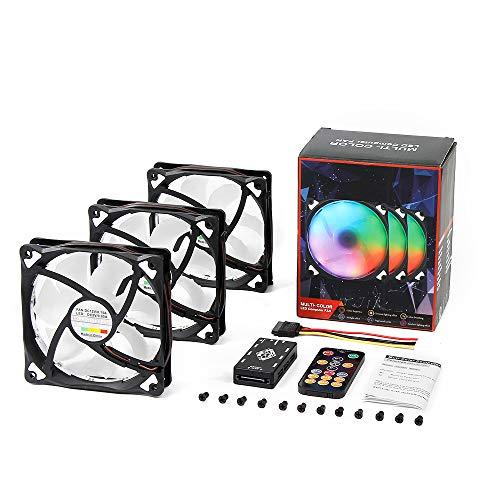 Ventilador para PC 120mm LED GRB (3 unidades)
