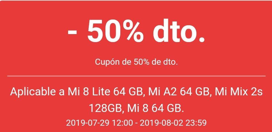 50% de descuento en varios moviles Xiaomi de la página oficial!