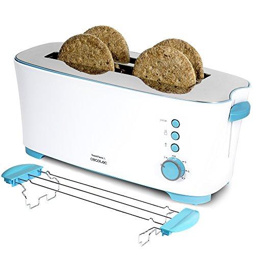 Tostadora de pan con capacidad para cuatro tostadas
