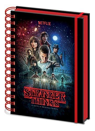 Stranger Things Cuaderno de Notas con Espiral A5