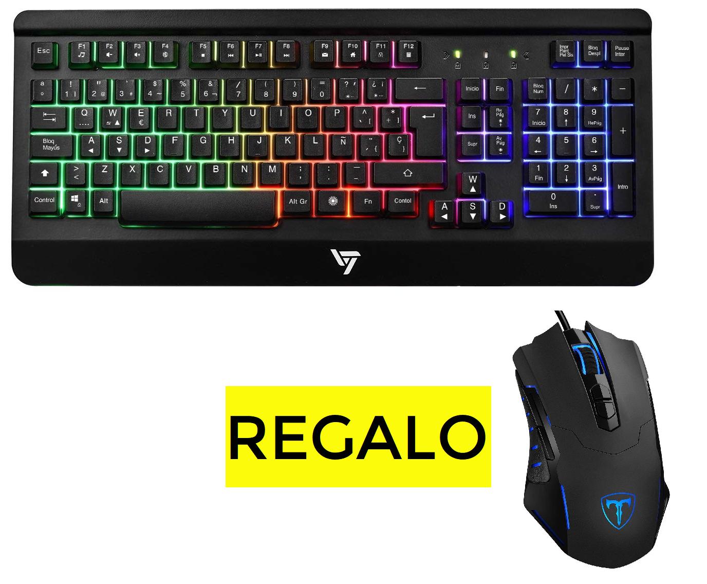 VicTsing Teclado Gaming con Ñ + Ratón gratis