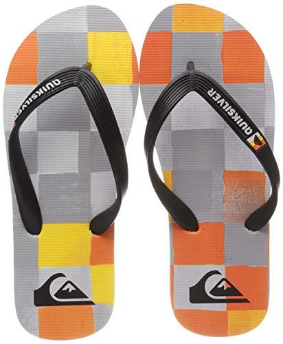 Quiksilver Molokai Resin Check, Zapatos de Playa y Piscina para Niños