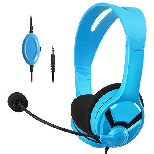 AmazonBasics – Auriculares de gaming, compatibles con Nintendo Switch, Xbox One, PlayStation 4 y PC, Azul