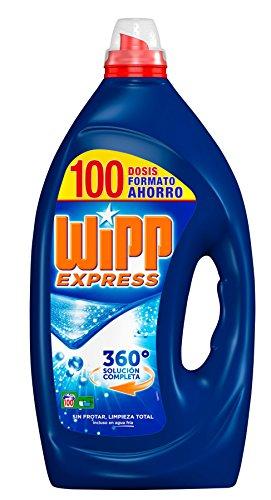 Wipp Express Detergente Líquido Azul, Formato ahorro 100 Lavados - Total: 5 Litros