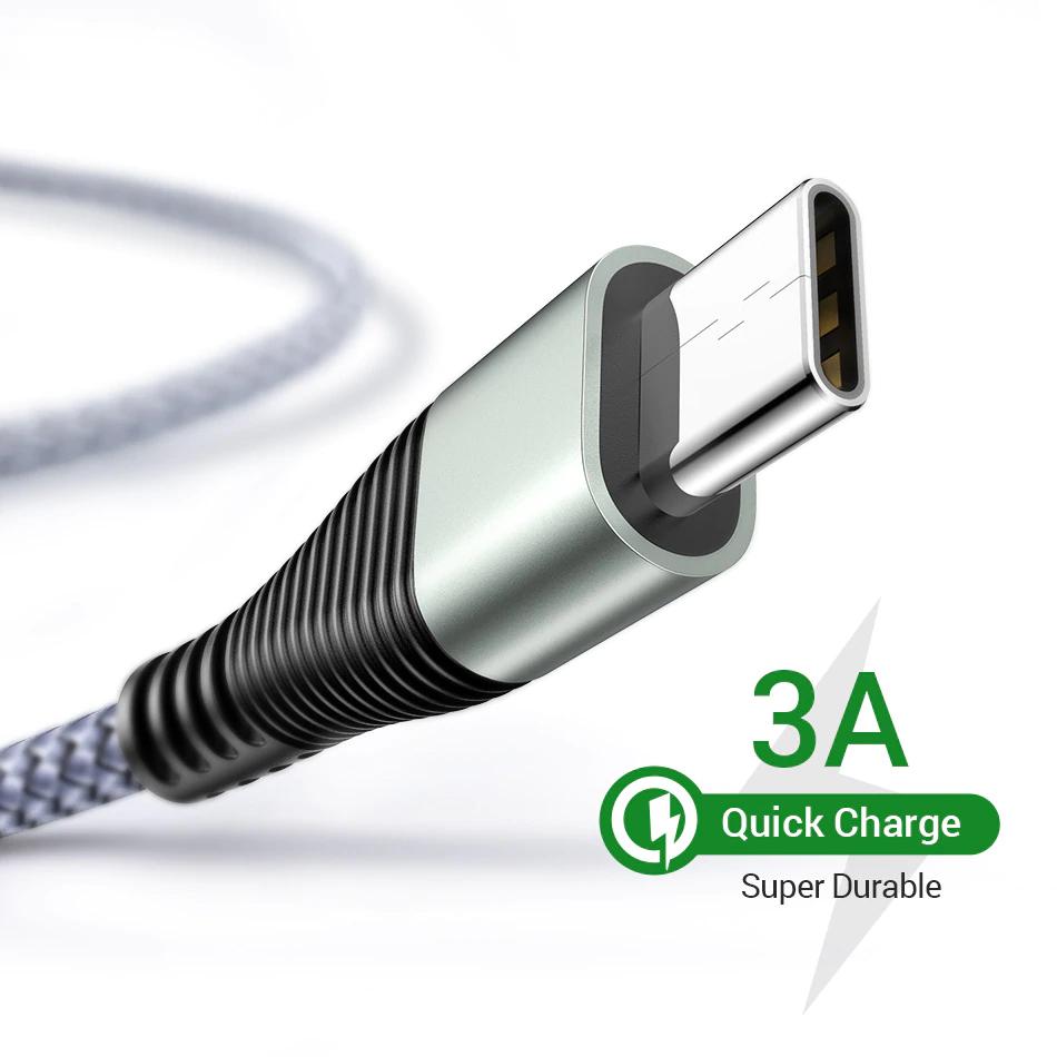 Aliexpress: Cable USB tipo C carga rápida QC ((llévate 3 al 50%)