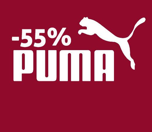 Descuento PUMA de hasta el 55%.
