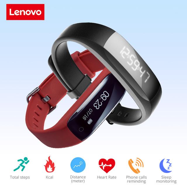 Lenovo HW01 con monitor dinámico del ritmo cardíaco, IP65, compatible con Google Fit.