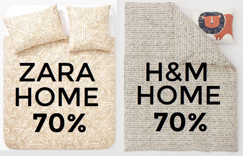 Liquidación final en las rebajas de Zara y H&M Home
