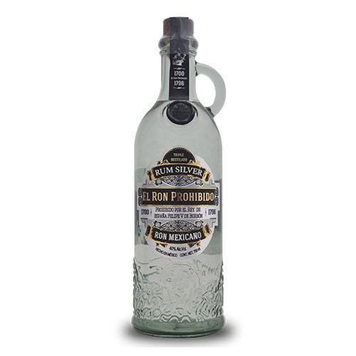 El Ron Prohibido Triple Destilado Blanco Mexicano - 700 ml.