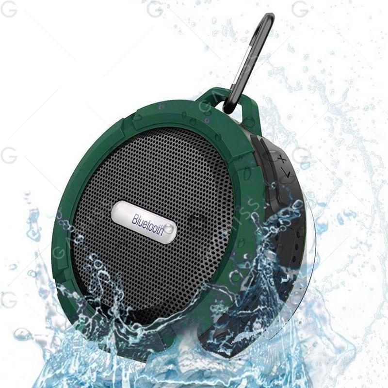 Altavoz inalámbrico Bluetooth Waterproof (Verde Ejército 9*9*5cm)