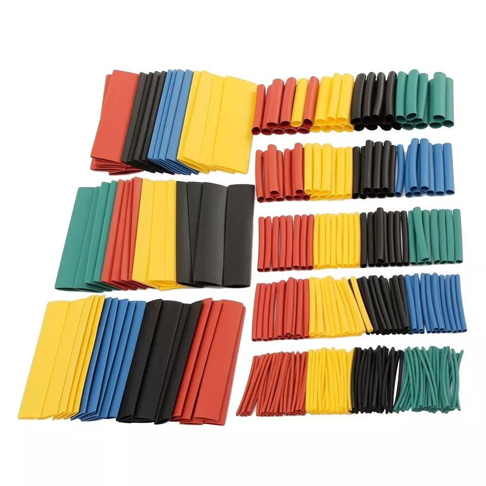328 piezas 8 tamaños Multi Color poliolefina 2:1 libre de halógenos termorretráctil