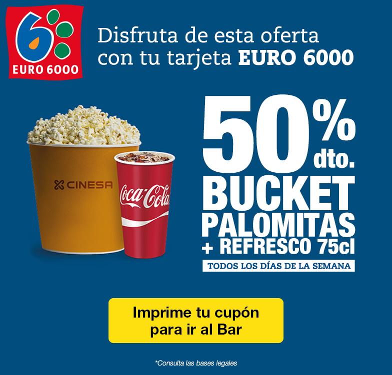 Aprovecha el 50% en PALOMITAS + BEBIDA 75cl en CINESA