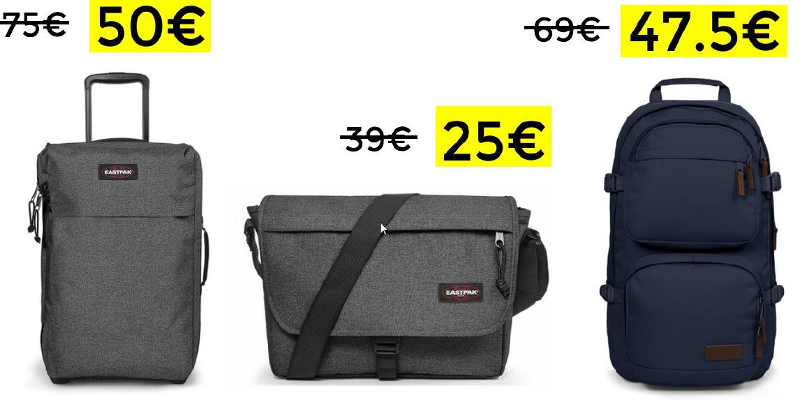 35% de descuento en mochilas y maletas Eastpak