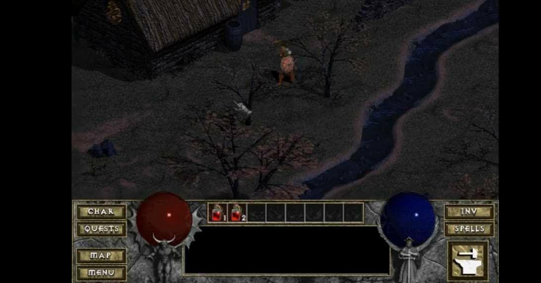 Gratis versión retro de juego Diablo en el navegador