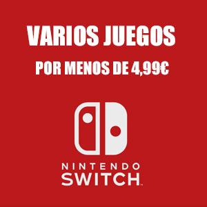 Nintendo Switch: Juegos menos de 4,99€ (eShop)