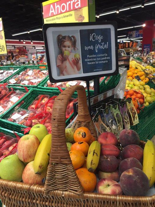 Fruta GRATIS para niños Carrefour