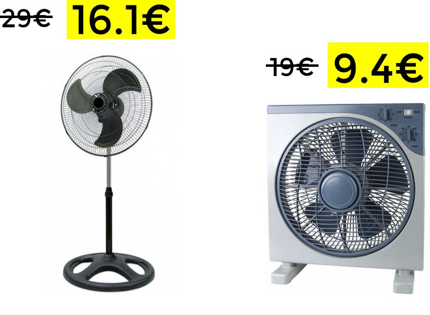 Bajadas de precio en selección de ventiladores