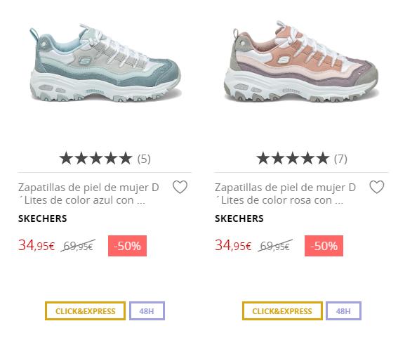 Zapatillas de piel para mujer Skechers varios modelos