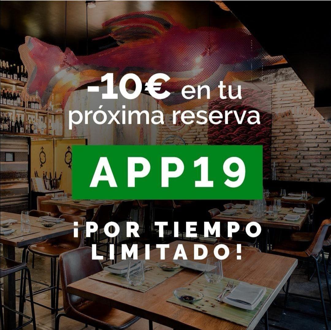 -10€ en tu próxima reserva el tenedor nuevos usuarios