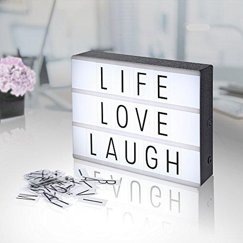 Caja de luz con 90 letras solo 7.9€