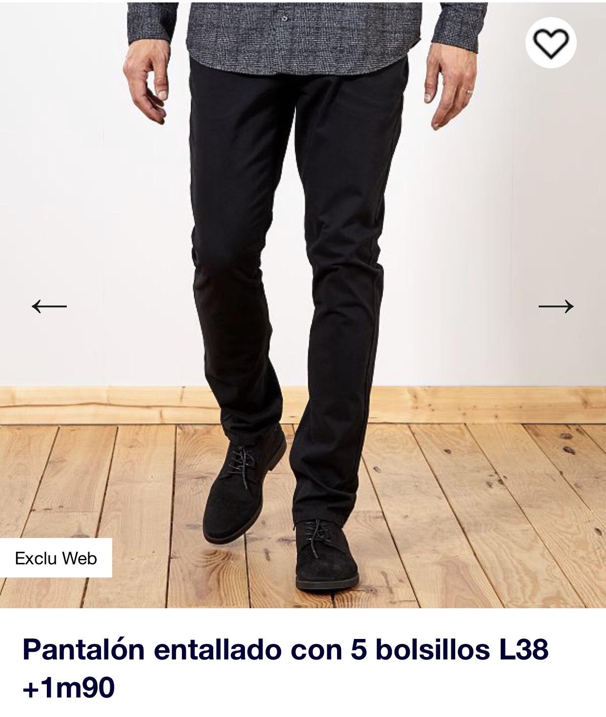 Pantalones para hombres de más de 1,90