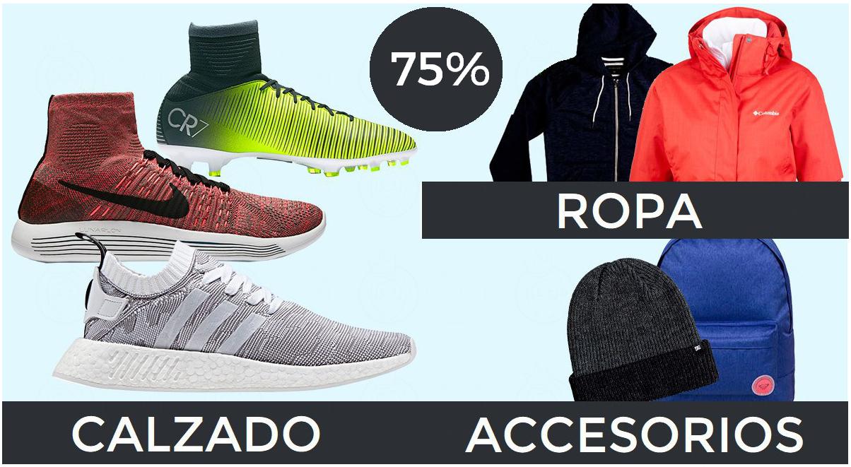 Ropa, calzado y electrónica deportiva hasta 75%
