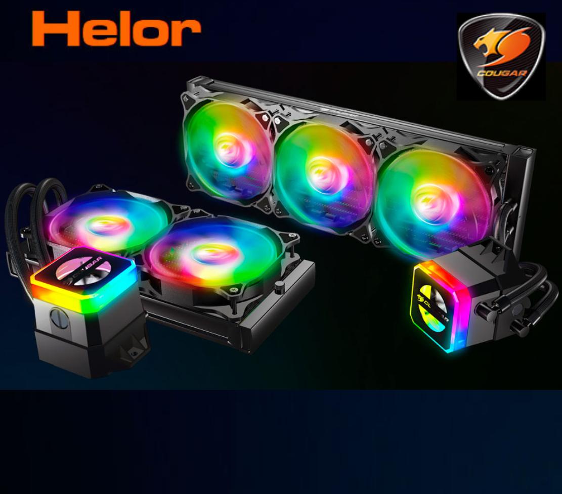 Cougar Helor 240 (99€) / Helor 360 (119€) - Kit Ref. Líquida A-RGB (con Control remoto)
