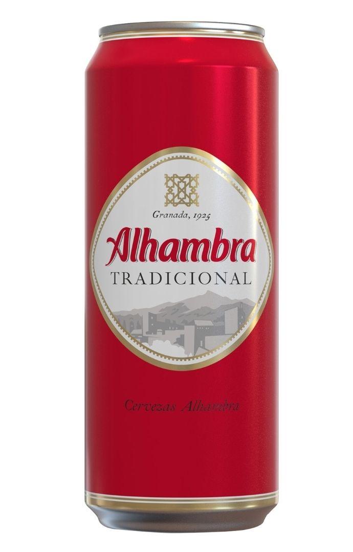 Lata de cerveza de 0,5cl Alhambra a 0,40euros en Carrefour