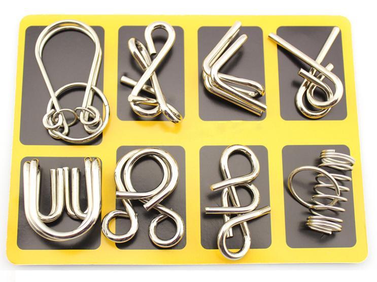 Puzzles metálicos Kit de 8 solo 1.6€