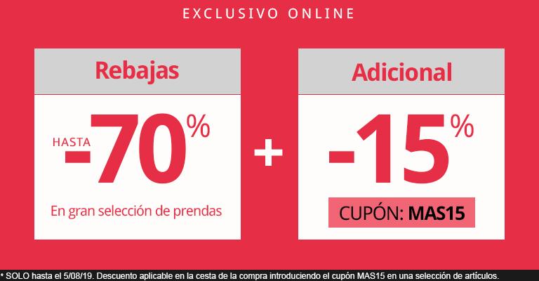 Carrefour Moda 70% + 15% Adicional