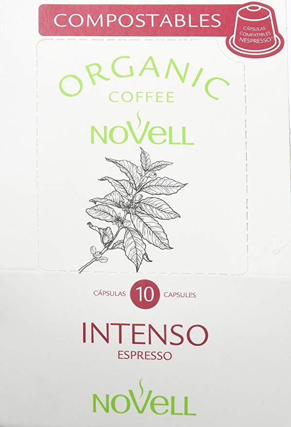 4 x 10 cápsulas compostables de café orgánico Intenso (compatibles Nespresso)