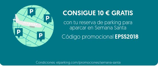 10€ en saldo gratis por aparcar 5 horas en un parking a través de la app ElParking (Semana Santa)