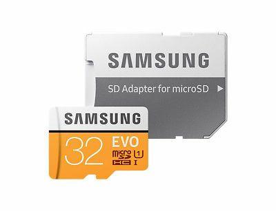 Tarjeta MicroSDCH SAMSUNG EVO 2017 32GB C10 + Adaptador