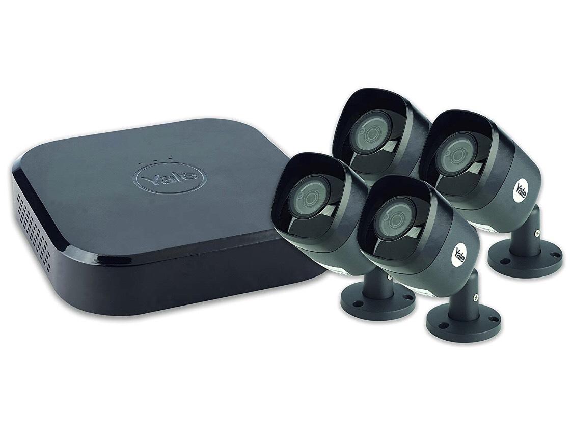 Videovigilancia con 4 cámaras exterior.