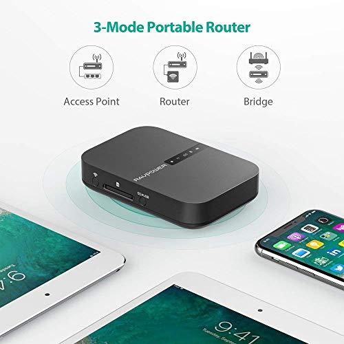 RAVPower FileHub Router WiFi Portátil,