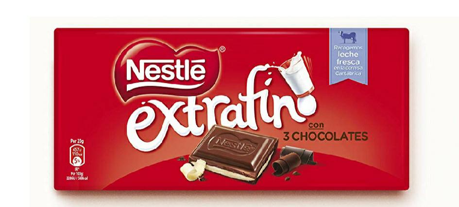 Nestlé Chocolate Extrafino - Paquete de 25 unidades x 120 gr - Total: 3 kg