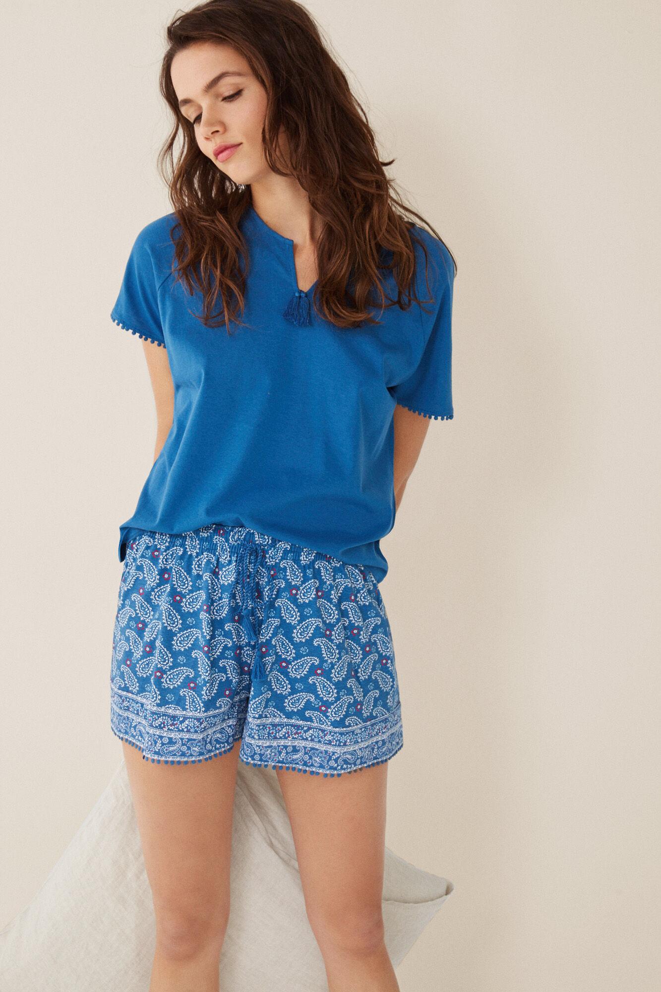 Pijama corto paisley