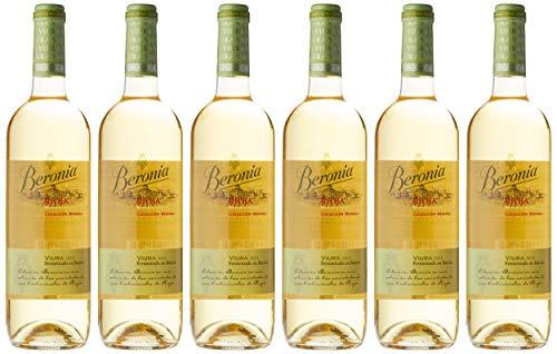 6 botellas de Beronia Viura Fermentado en Barrica - Vino Blanco D.O.Ca. Rioja